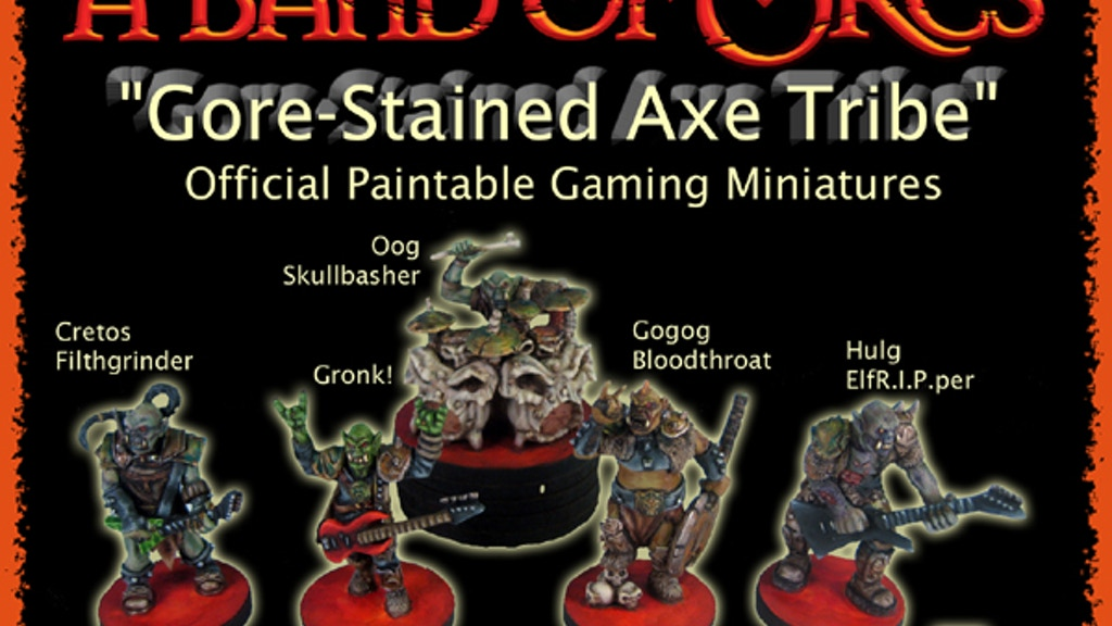 A Band of Orcs Official Gaming Miniatures Presale project video thumbnail