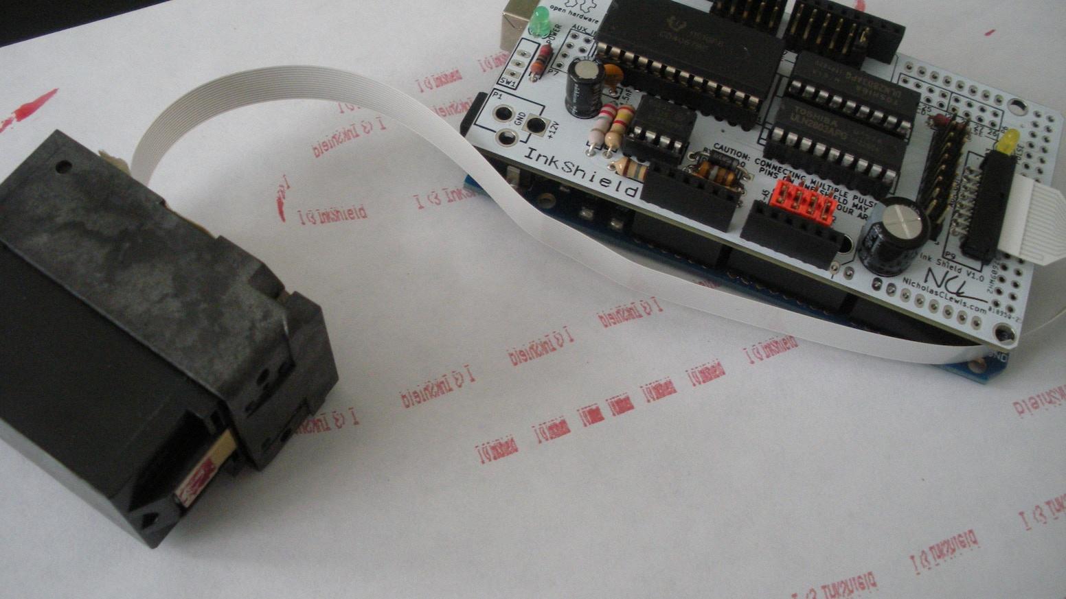 InkShield: An Open Source Inkjet Shield for Arduino by