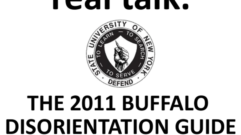 Buffalo Disorientation Guide 2011 by cayden » One Week