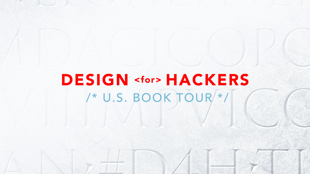 "Preview ""Design for Hackers"" by backing the book tour project video thumbnail"