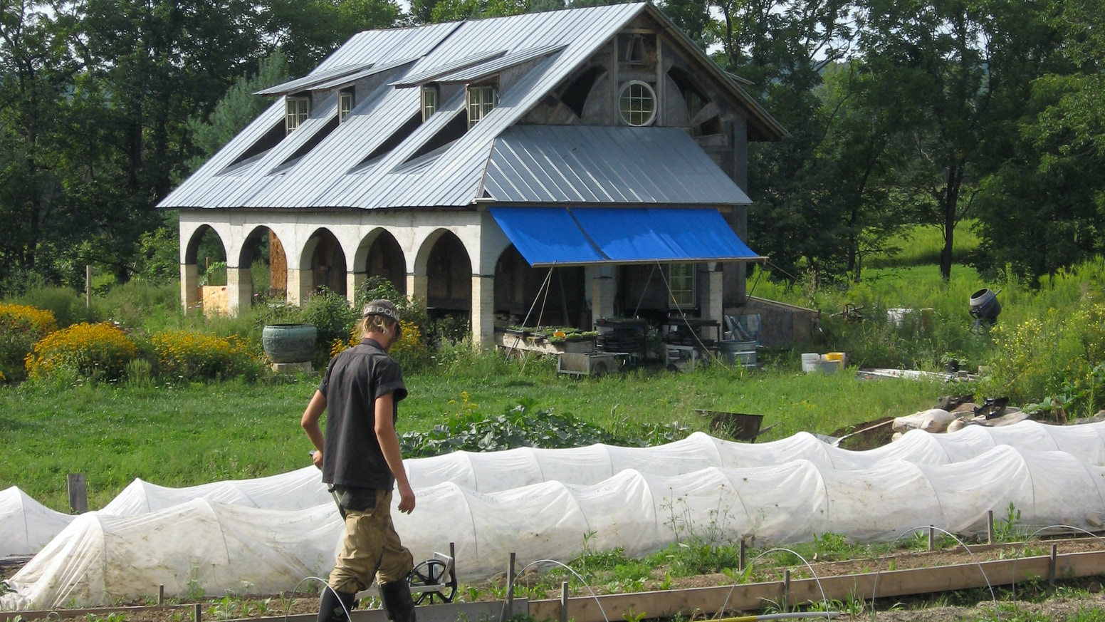 Construction Of Ten Hoop Houses On Howards End Csa Farm By Addison