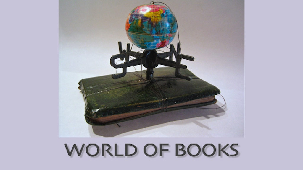 "Limited edition artists book, ""World of Books"" project video thumbnail"