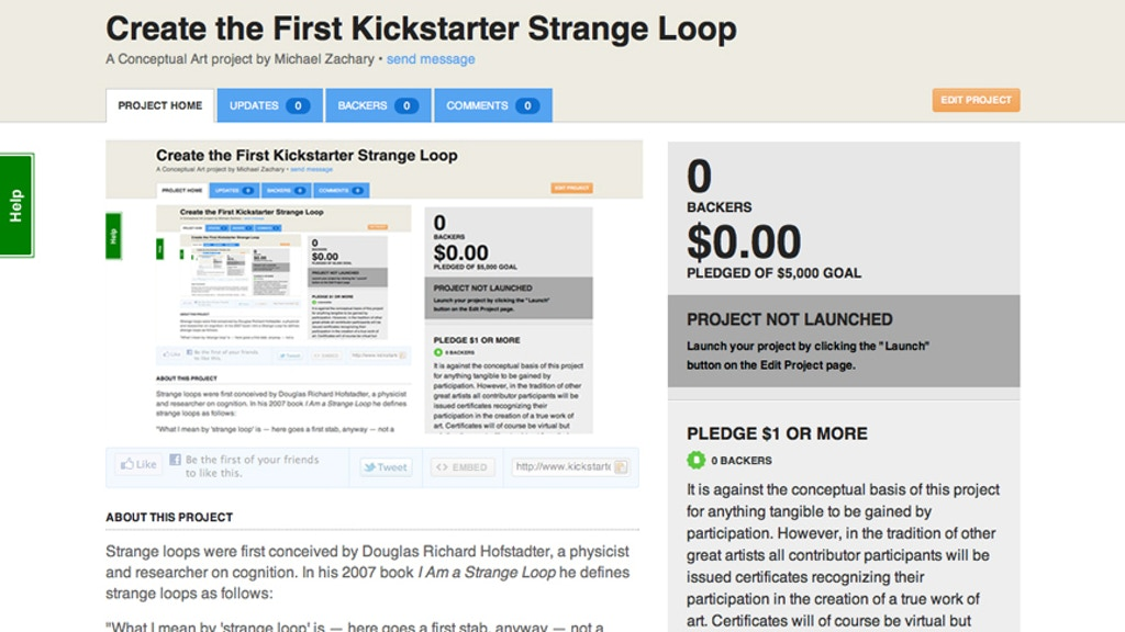 Project image for Create the First Kickstarter Strange Loop