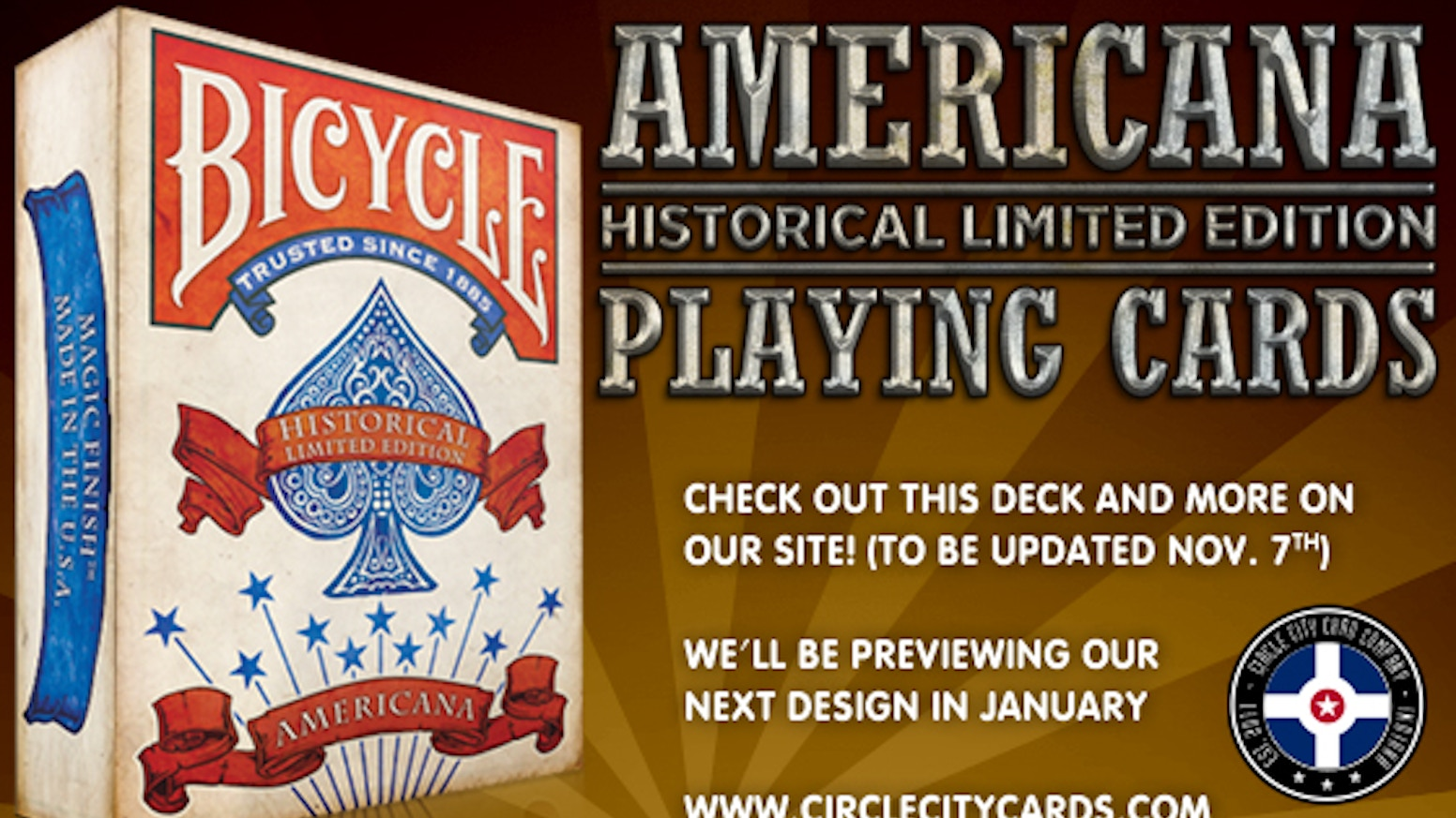 Americana Playing Card Deck By Russell Kercheval