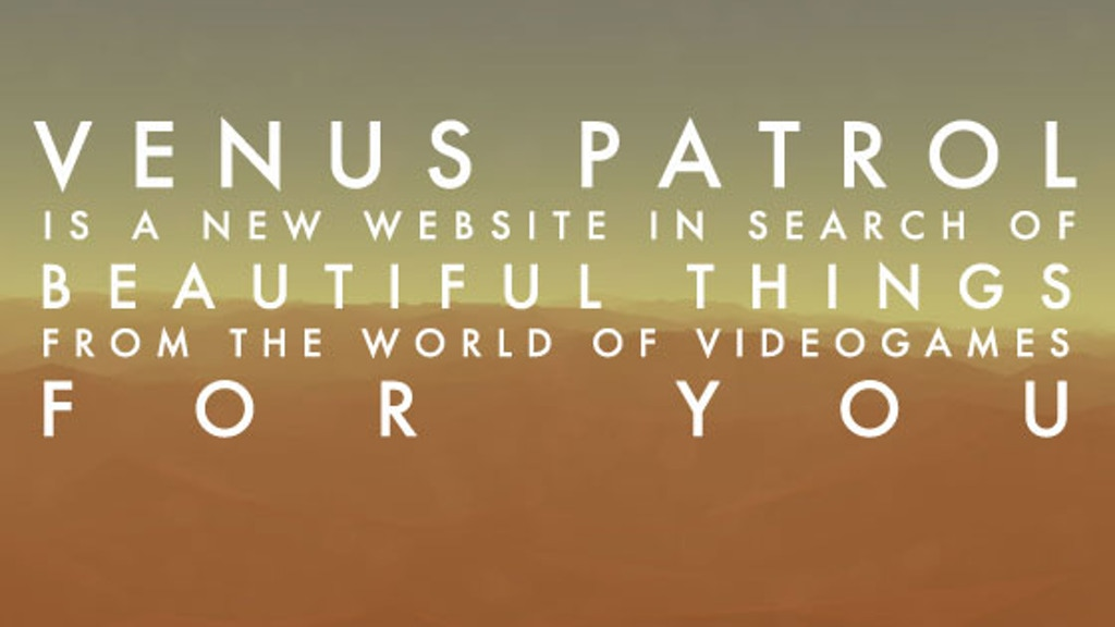 VENUS PATROL: charting a new course for videogame culture project video thumbnail