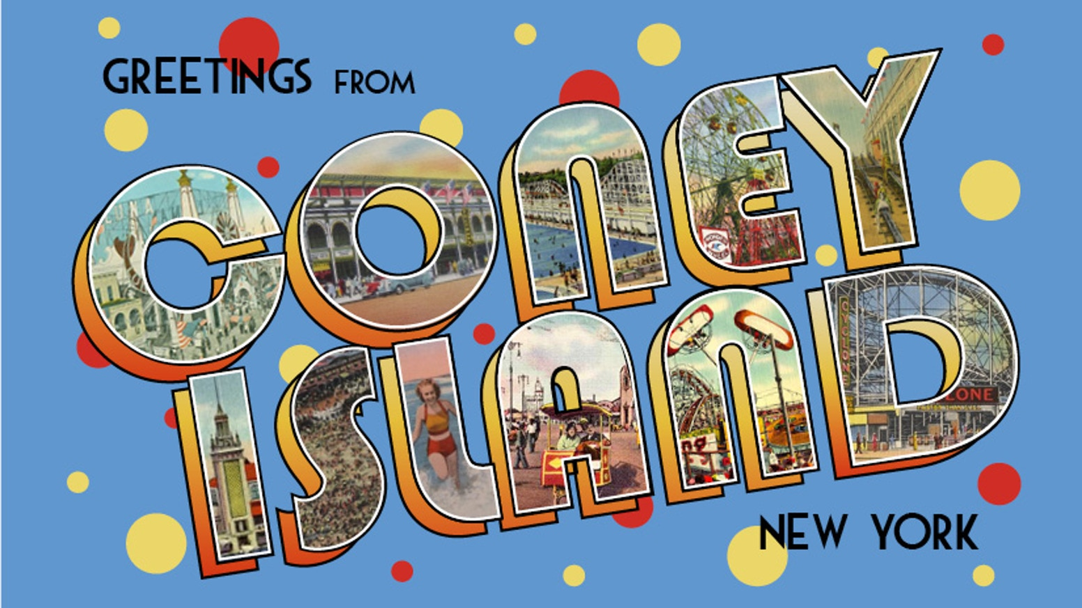Greetings From Coney Island A Story Told Via Your Mailbox By Gyda