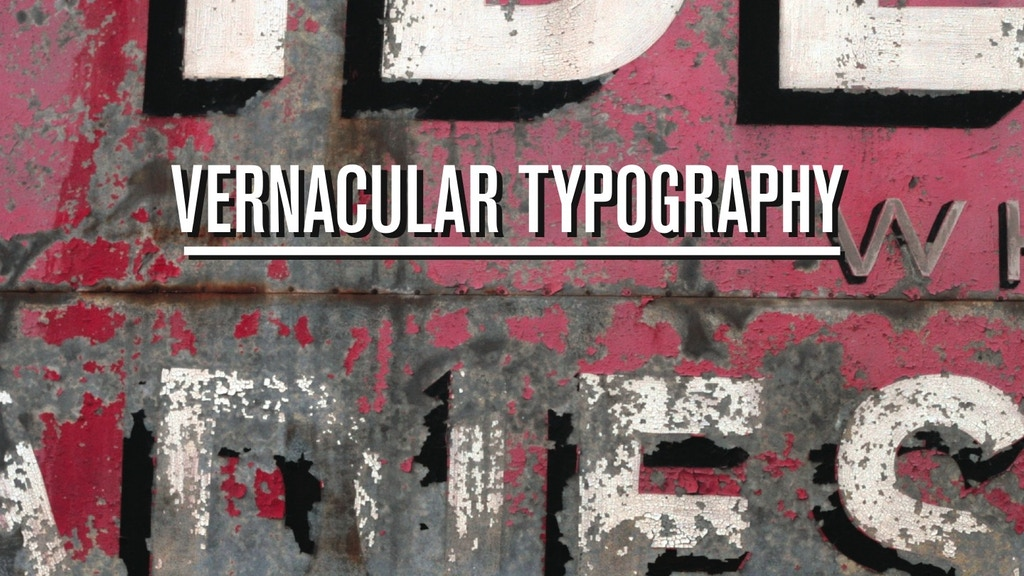 Vernacular Typography project video thumbnail