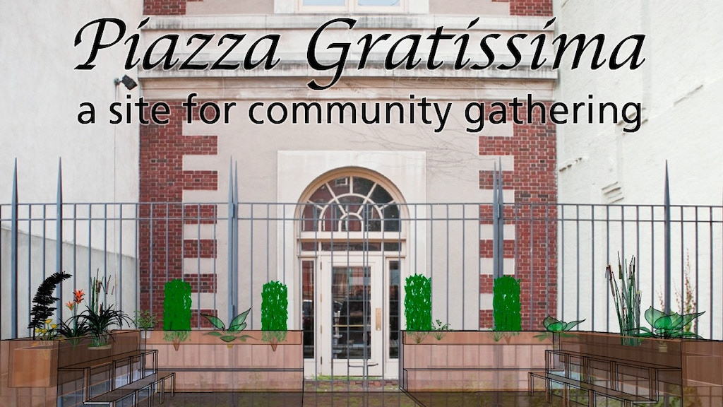 Piazza Gratissima: a site for community gathering project video thumbnail