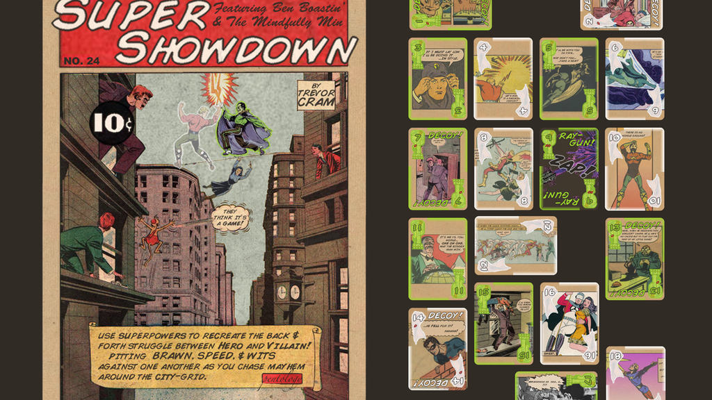 Super Showdown! -A game from the golden age of comics project video thumbnail
