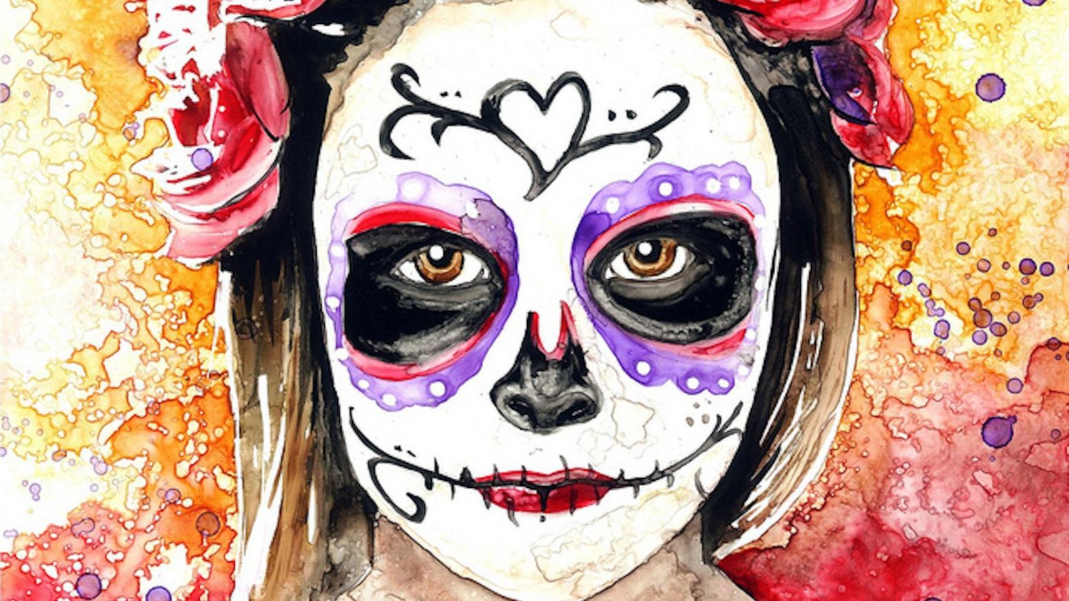 Dia De Los Muertos Day Of The Dead Portrait Series By Rachael