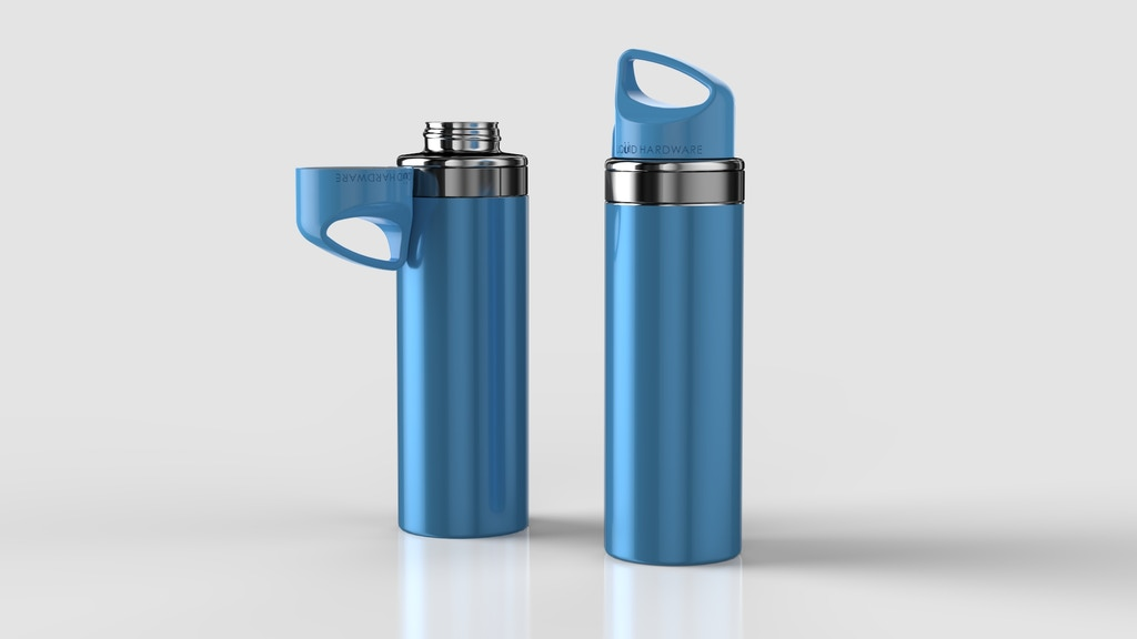 Magnetic Top Water Bottle:  Never Lose Your Lid! project video thumbnail