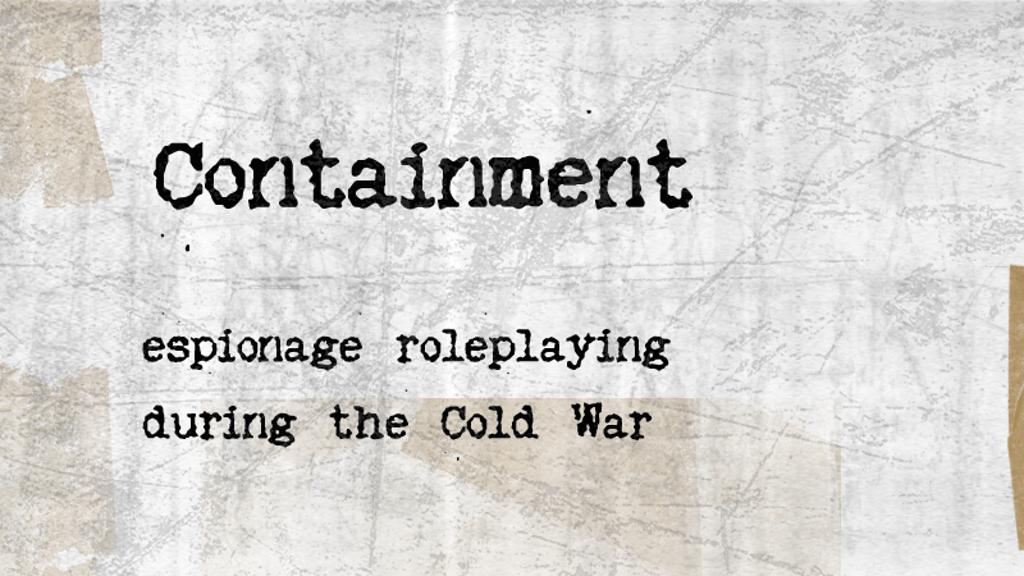 Project image for Containment the RPG