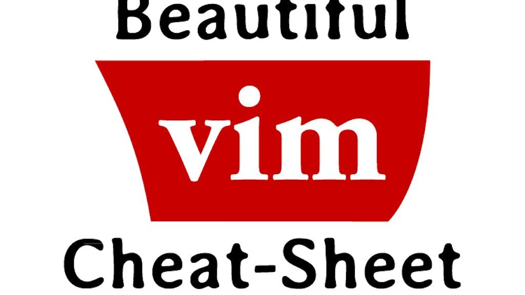 Beautiful Vim Cheat-Sheet Poster project video thumbnail