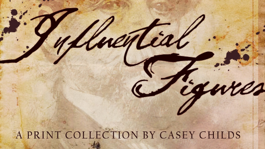 """Influential Figures"" Drawing Prints Box Set project video thumbnail"