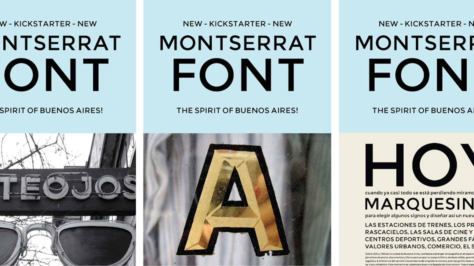 549f9dd4be4e Montserrat is a new libre sans text typeface for the web, inspired by the  signage found in a historical neighborhood of Buenos Aires!