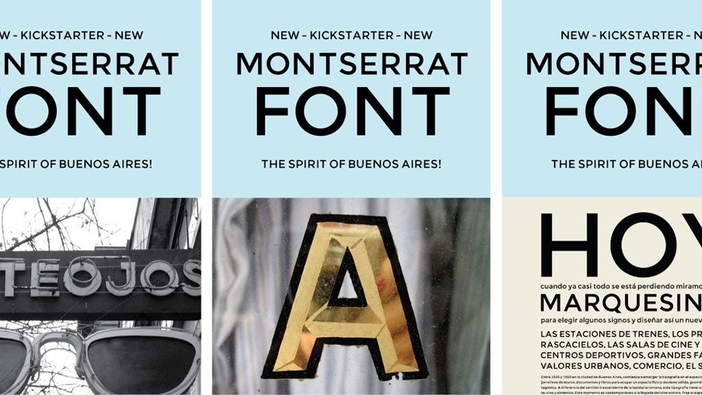 The Montserrat Typeface project video thumbnail