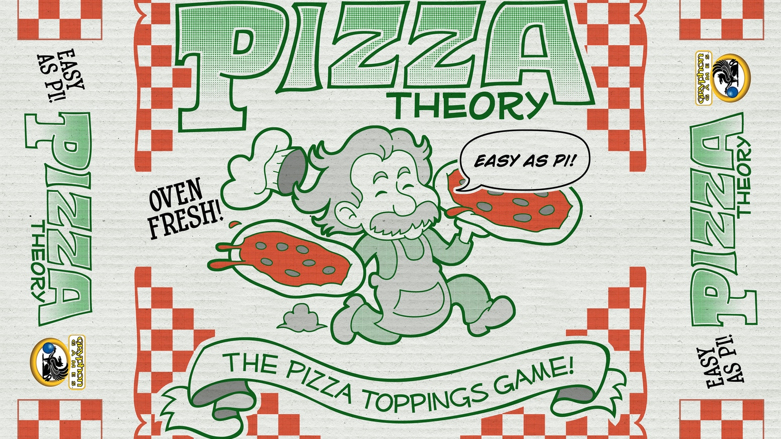 Greg and Brian Powers' deliciously fun game.  It may be as easy as pi, but can you come out on top?