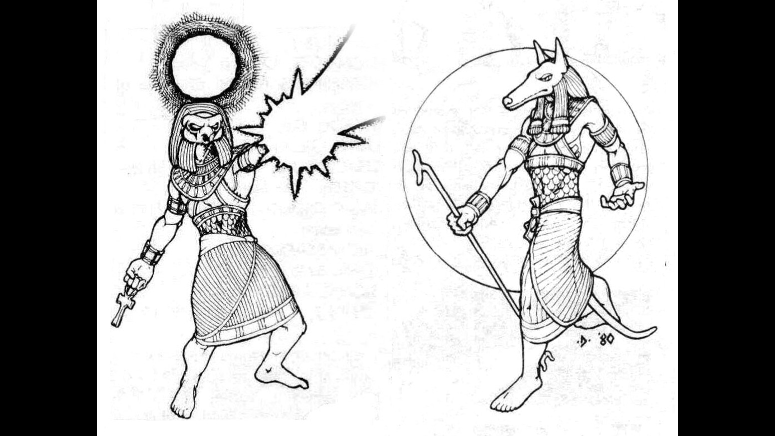Re-Creating my Egyptian Art from Deities & Demigods by