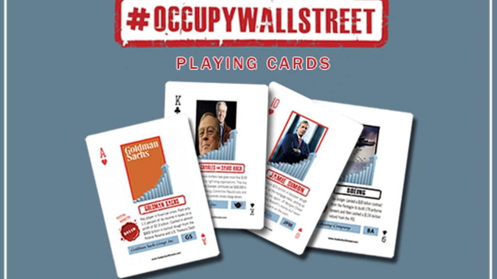 Project image for Deck the 1%: #OccupyWallStreet Playing Cards
