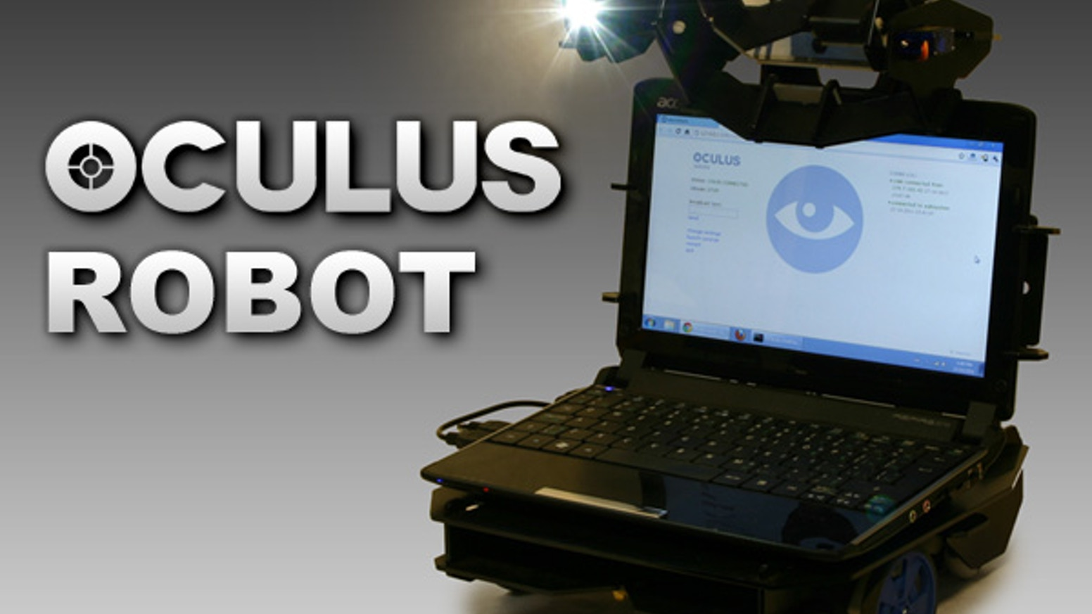 Oculus is a motorized frame and software kit that instantly converts a small laptop into a web controlled ROBOT