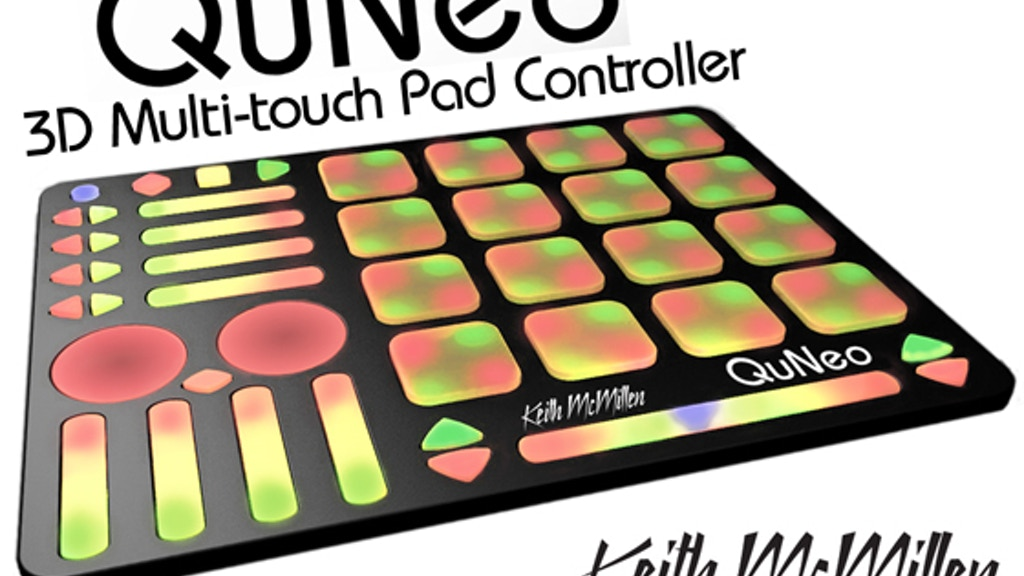 QuNeo, 3D Multi-touch Open Source MIDI & USB Pad Controller project video thumbnail