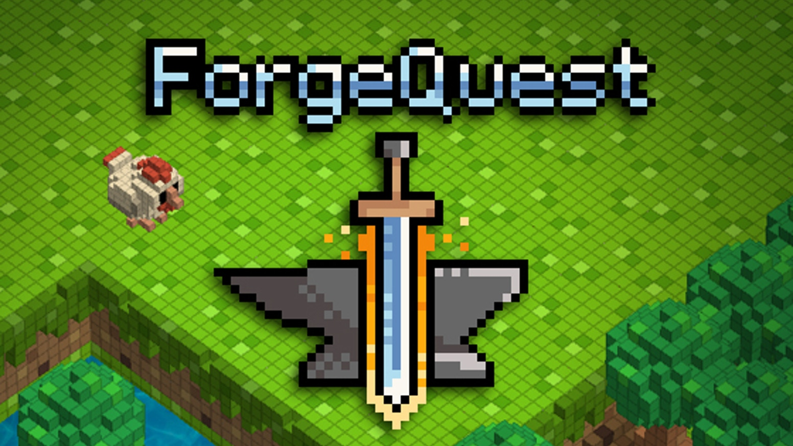 Forge Quest is a dungeon crawling rpg set in a voxel world. Explore the  land full of chickens on a light hearted quest to become a hero.