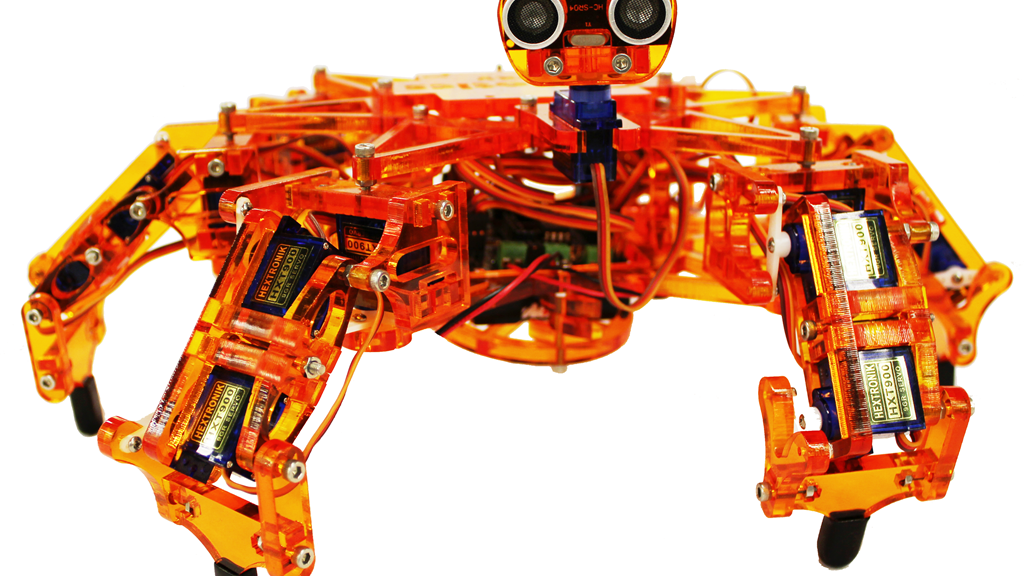 Hexy the Hexapod - Low-Cost Six-Legged Open Robot project video thumbnail