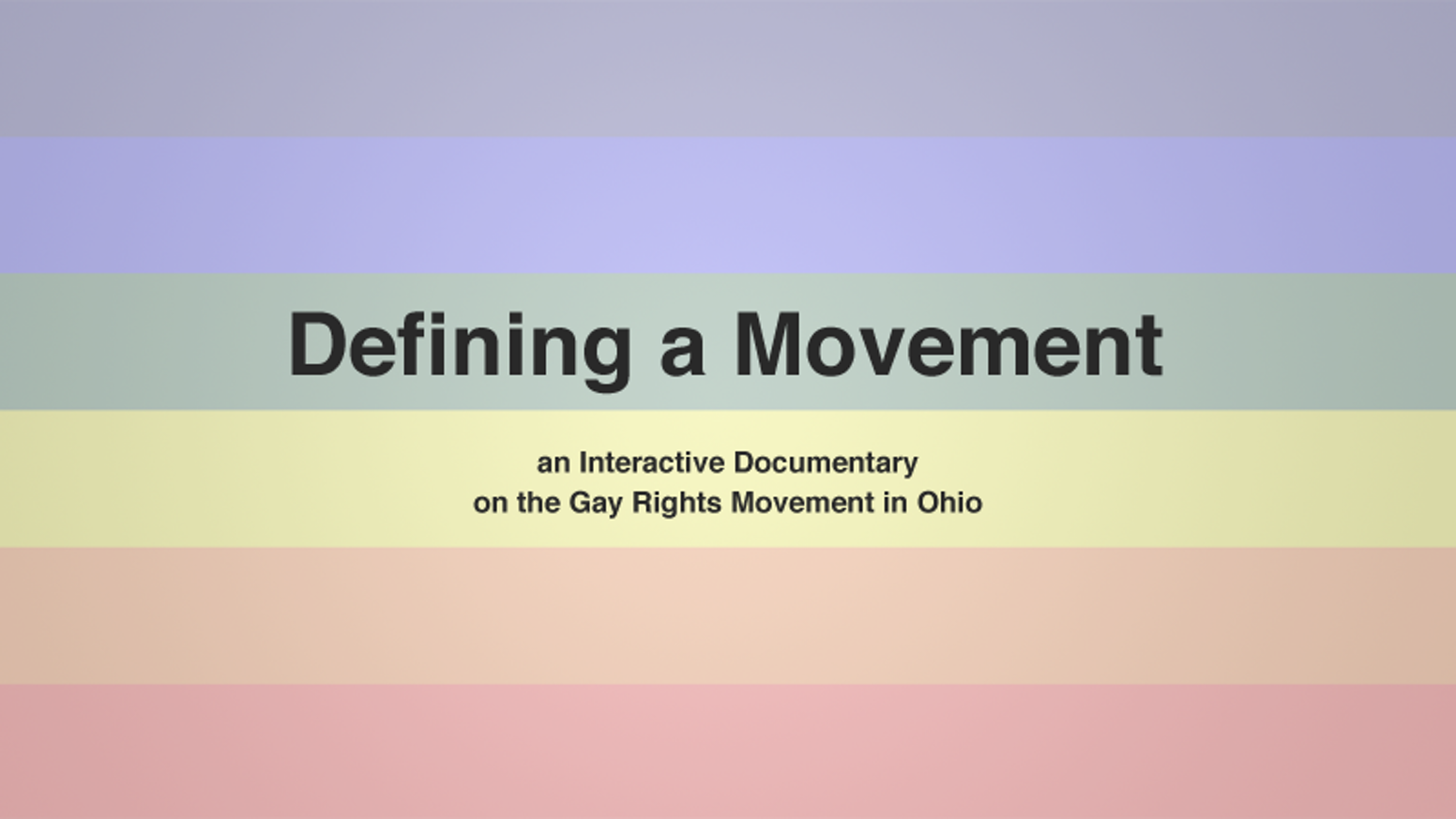Interactive Documentary on Gay Rights in Ohio by Nathan