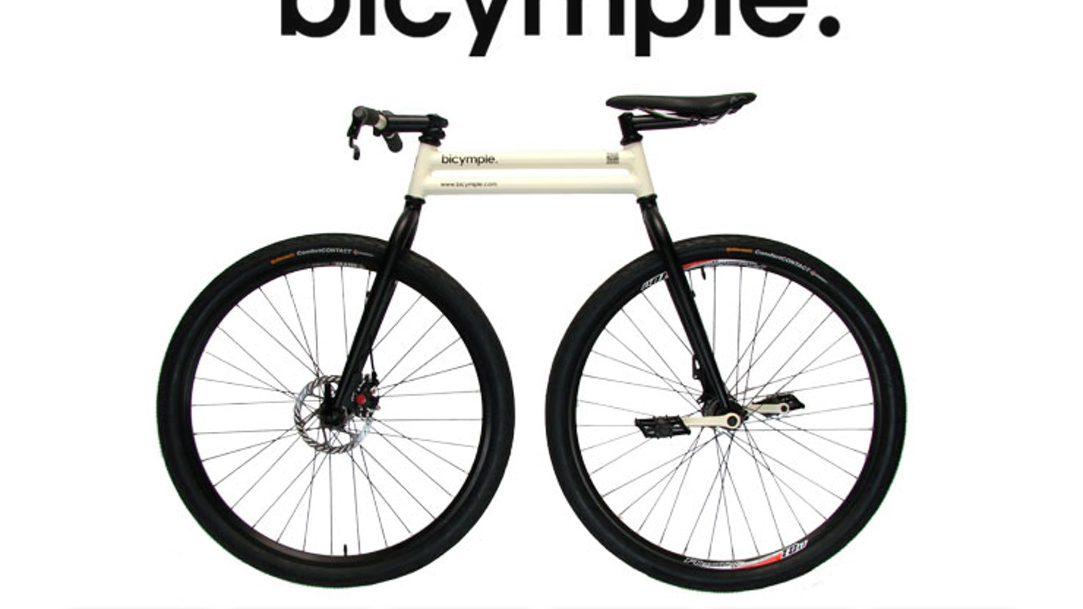 A bicycle, simplified.