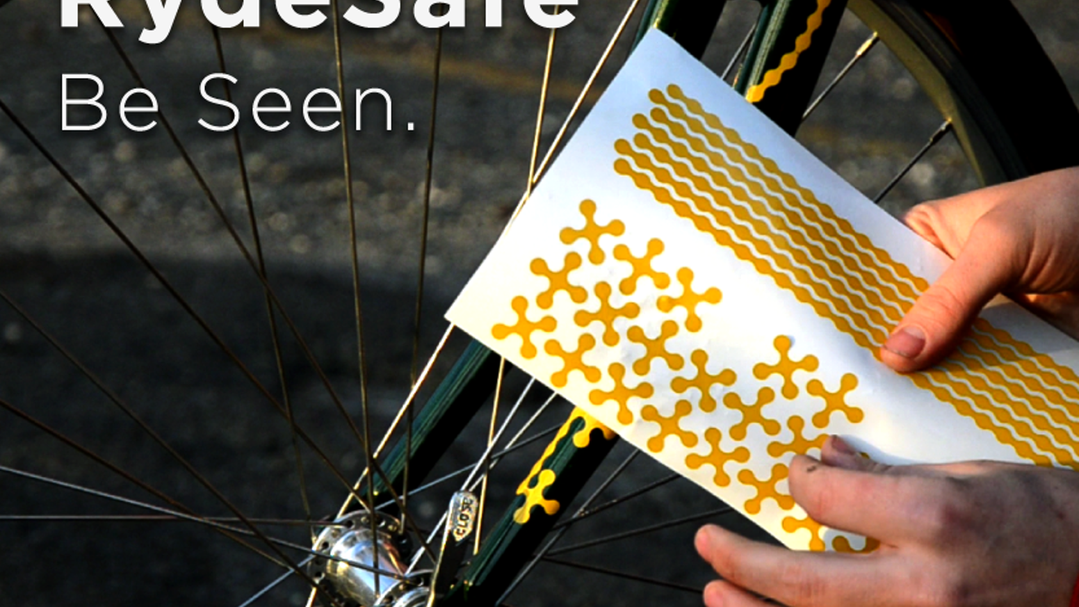 RydeSafe Reflective Decals make you safer at night. RydeSafe.com