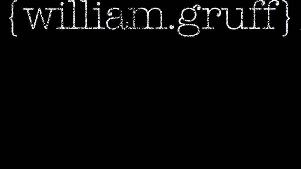 William Gruff project video thumbnail