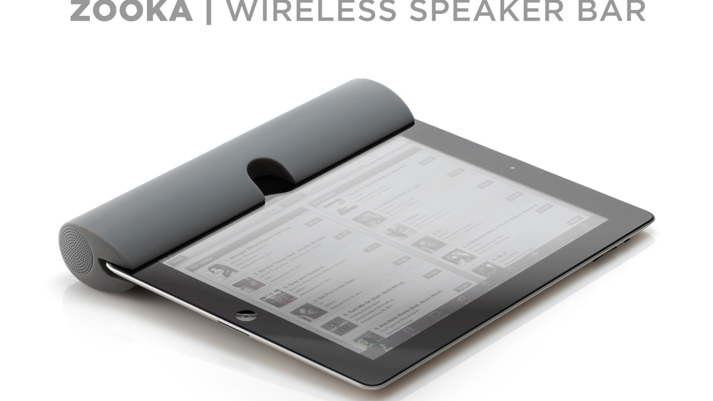 ZOOKA™ - Wireless Speaker for your iPad, iPhone & iPod project video thumbnail