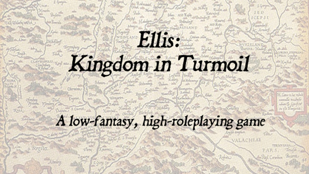 Ellis: Kingdom in Turmoil Roleplaying Game project video thumbnail