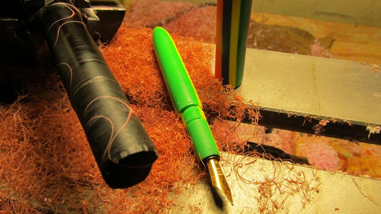 custom fountain pens for kids by shawn newton kickstarter