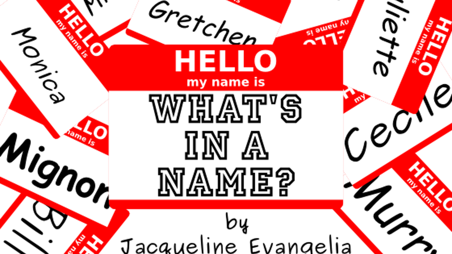 what s in a name concert cd by jacqueline book novikov kickstarter