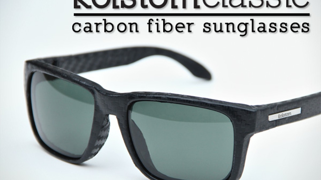 kolstom classic: carbon fiber sunglasses project video thumbnail