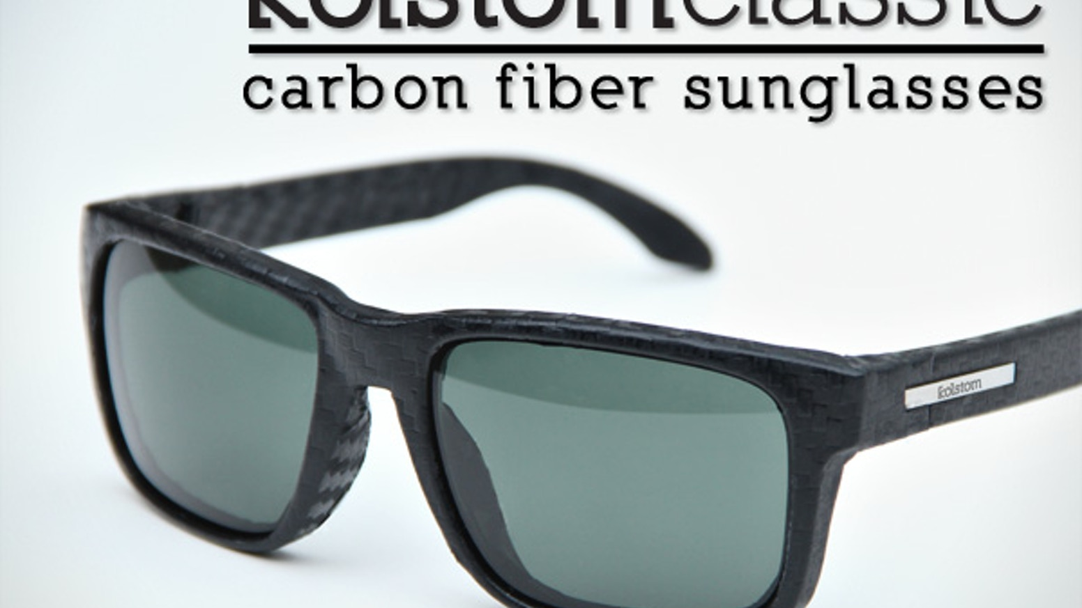 The world's first compression molded carbon fiber sunglasses featuring polarized optics