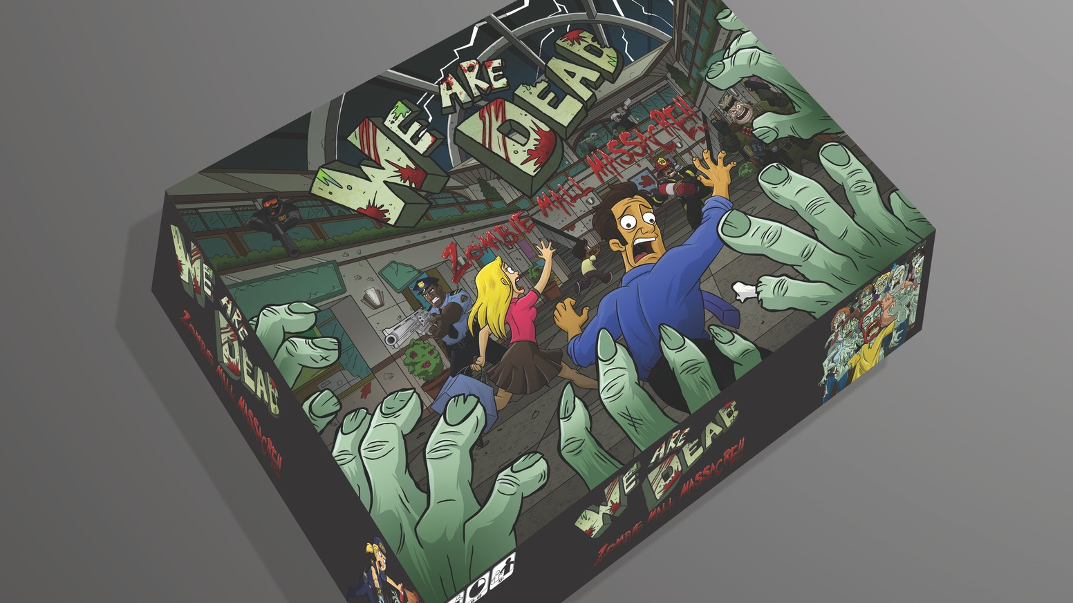 We Are Dead is a zombie themed board game where the players are the zombies. With art from current Simpsons Illustrator, Mike Morris.