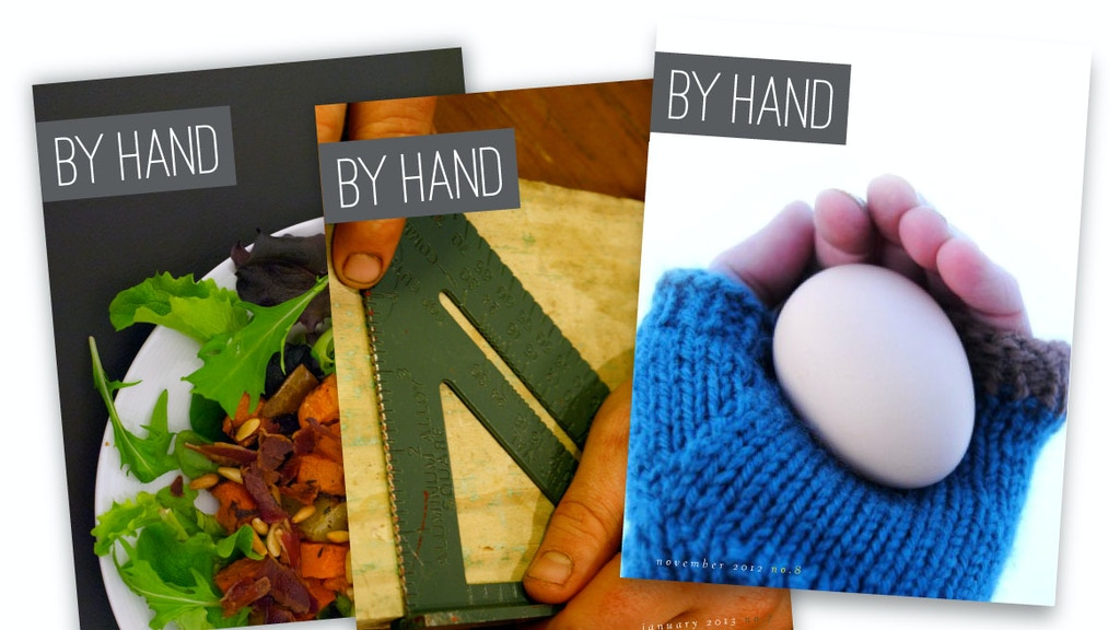 By Hand: a lifestyle magazine for people who make and do project video thumbnail