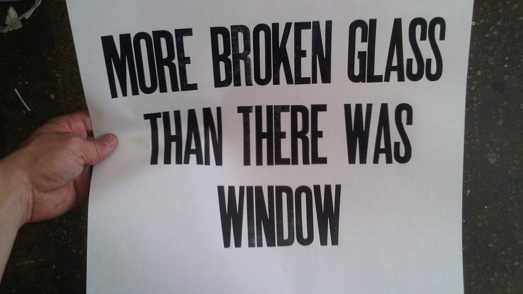 More Broken Glass Than There Was Window project video thumbnail