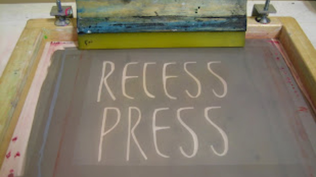 Recess Press: Printmaking Studio project video thumbnail