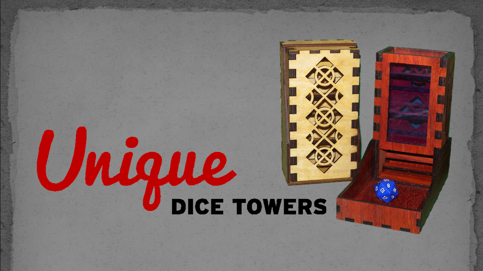 Bring your A-Game and express your individuality when you roll your dice with your unique dice tower.