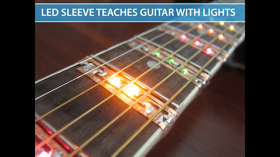 Track LED Sleeve for Learning Chords and Songs on the Guitar\'s ...