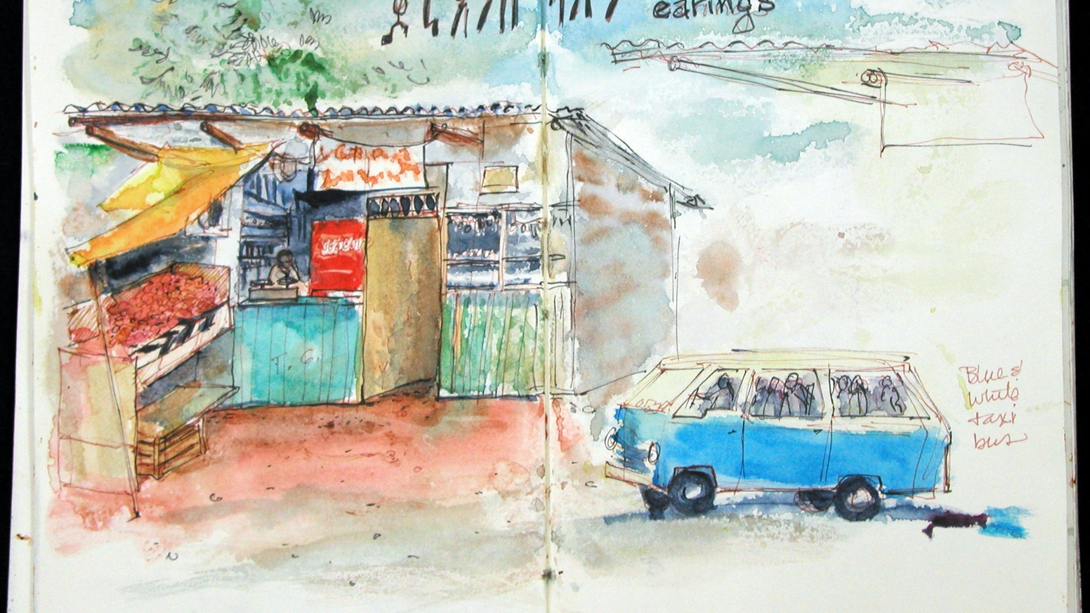 Mango Baskets & Rickshaw Blessings, a travel journal book by