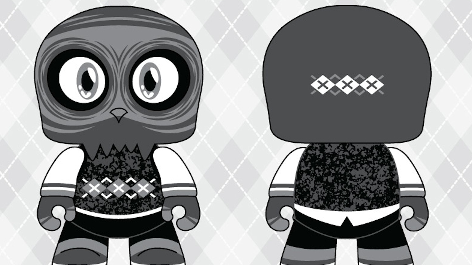 This project is intended to fund the creation of the second colorway of Scott Tolleson's Uncle Argh Mini Qee: the NOIR Edition.