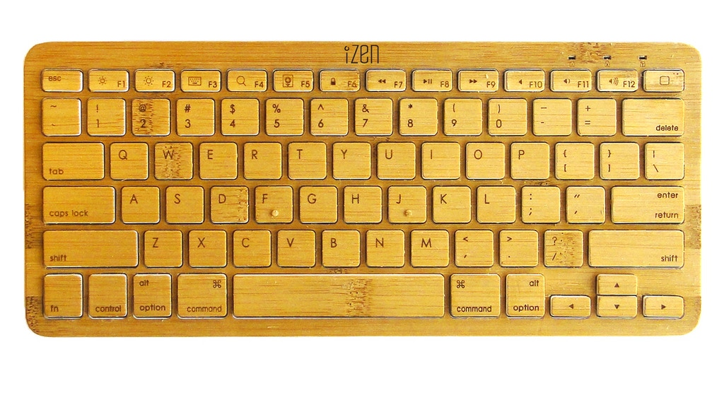 iZen Bamboo Keyboard for iPad (or any device with bluetooth) project video thumbnail