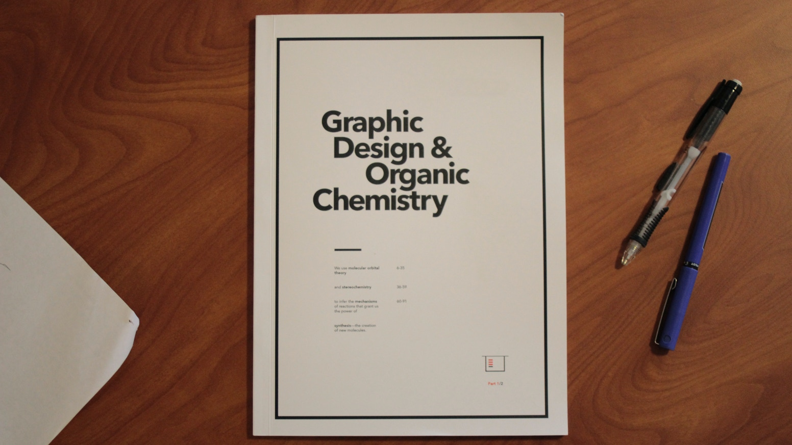 A chemistry book that teaches you to think using design and narrative.