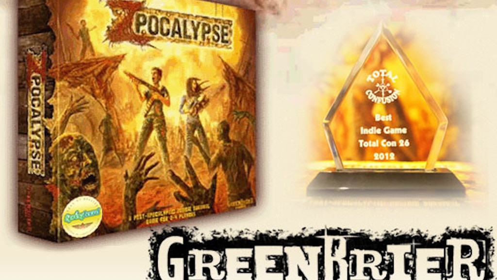 Zpocalypse: An Epic Zombie Survival Board Game project video thumbnail