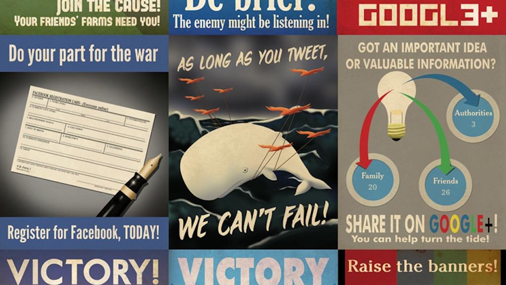 social media propaganda poster art book project video thumbnail