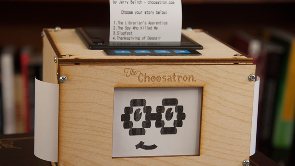 The Choosatron: Interactive Fiction Arcade Machine project video thumbnail